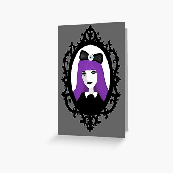 Purple Pastel Goth - Original Greeting Card