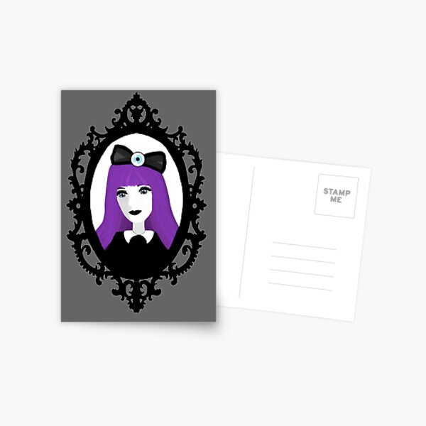 Purple Pastel Goth - Original Postcard