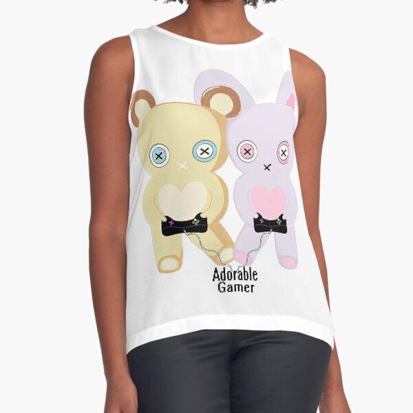 Adorable Gamer ~ Teddy & Bunny Sleeveless Top