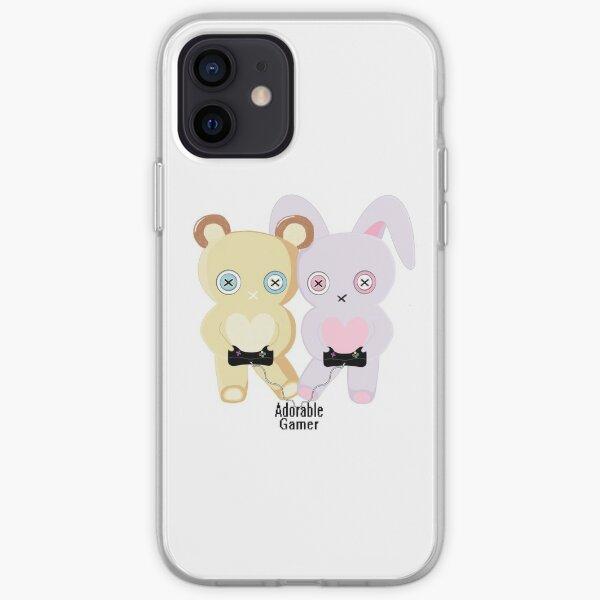Adorable Gamer ~ Teddy & Bunny iPhone Soft Case