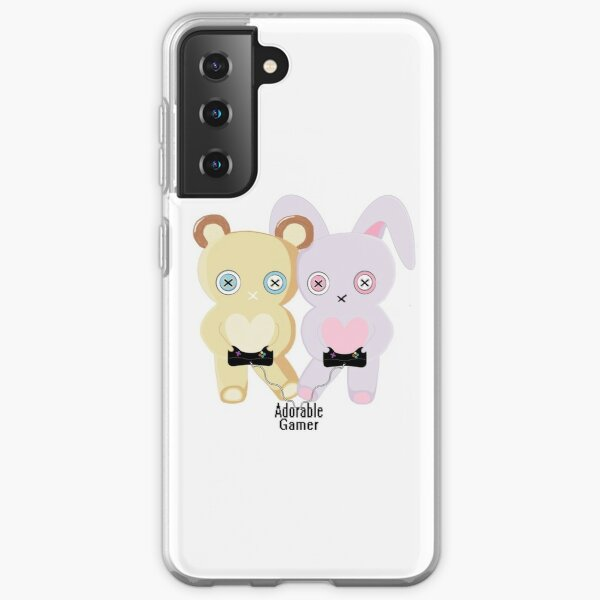 Adorable Gamer ~ Teddy & Bunny Samsung Galaxy Soft Case