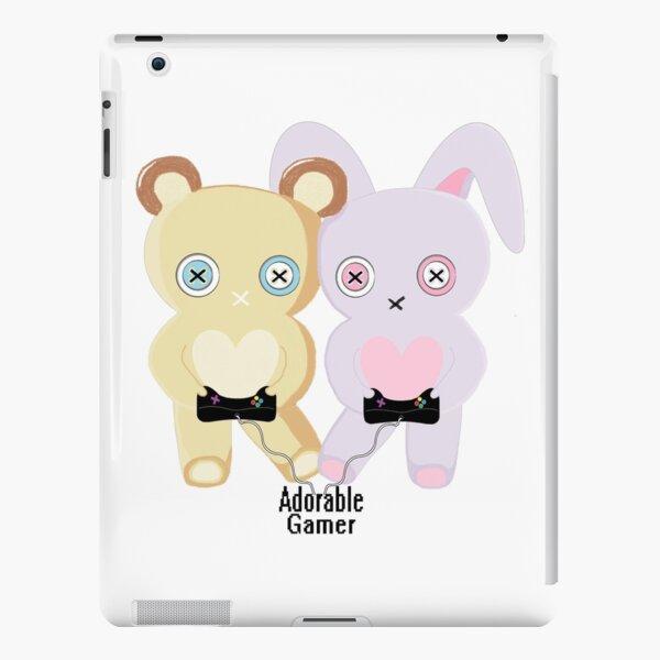 Adorable Gamer ~ Teddy & Bunny iPad Snap Case