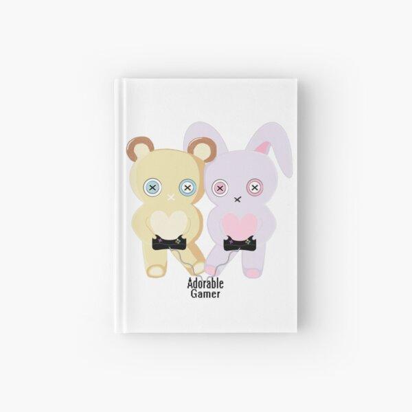 Adorable Gamer ~ Teddy & Bunny Hardcover Journal