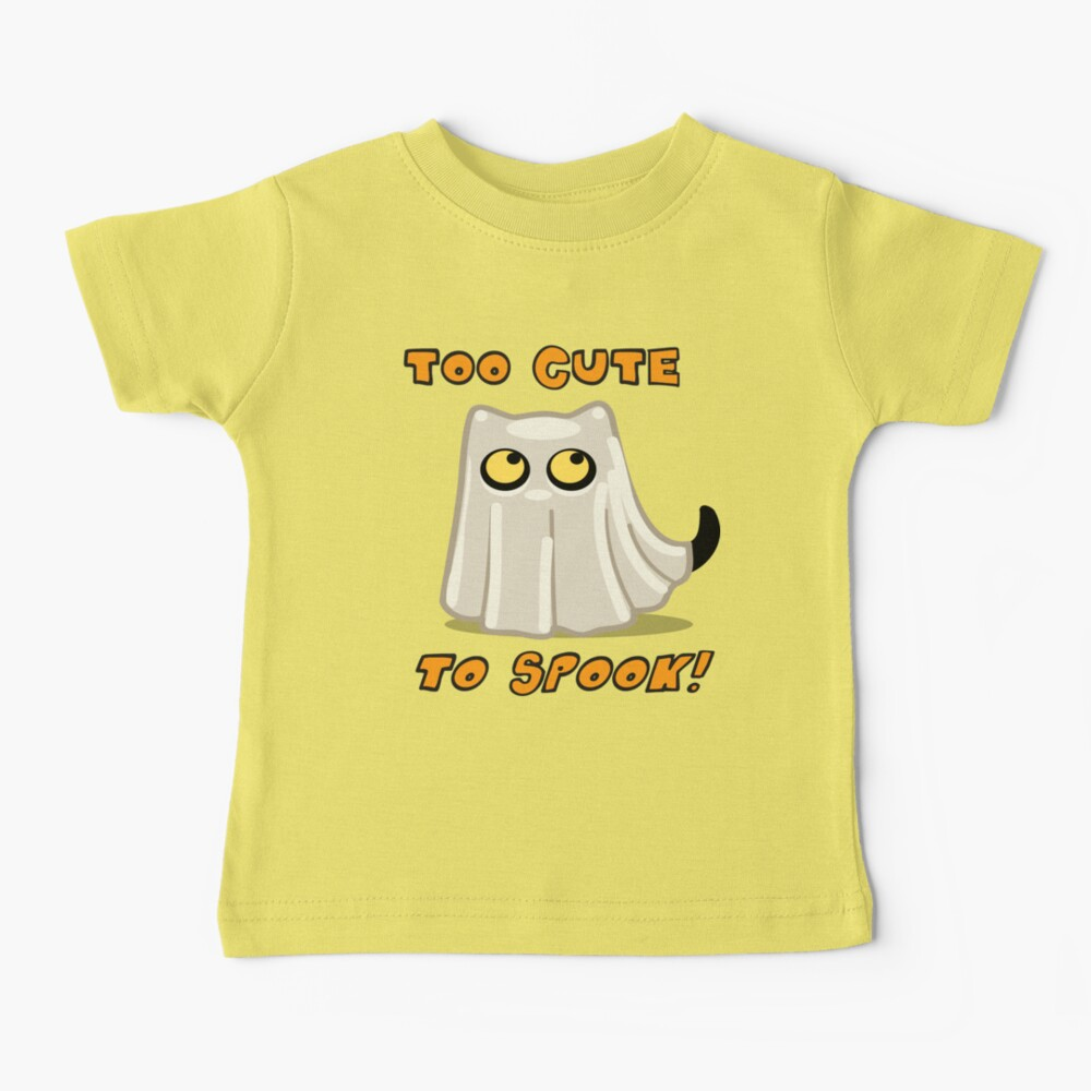 Cute Halloween Ghost Cat for Baby and Kids! Baby T-Shirt