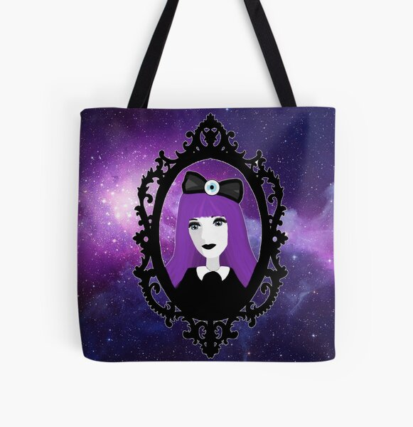 Purple Pastel Goth - Space All Over Print Tote Bag