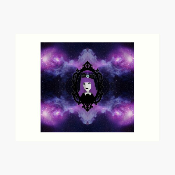 Purple Pastel Goth - Space Art Print