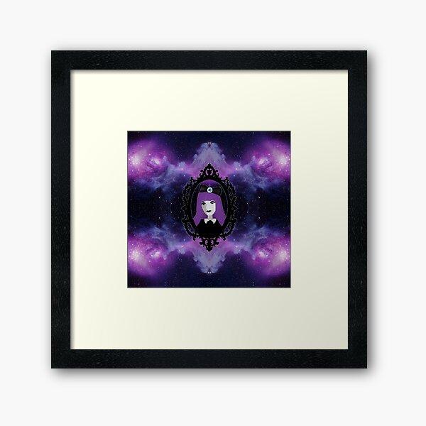 Purple Pastel Goth - Space Framed Art Print