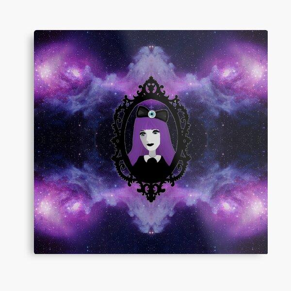 Purple Pastel Goth - Space Metal Print