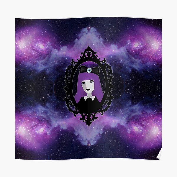 Purple Pastel Goth - Space Poster