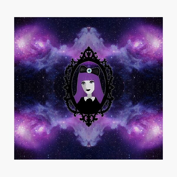 Purple Pastel Goth - Space Photographic Print