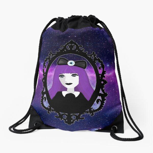Purple Pastel Goth - Space Drawstring Bag