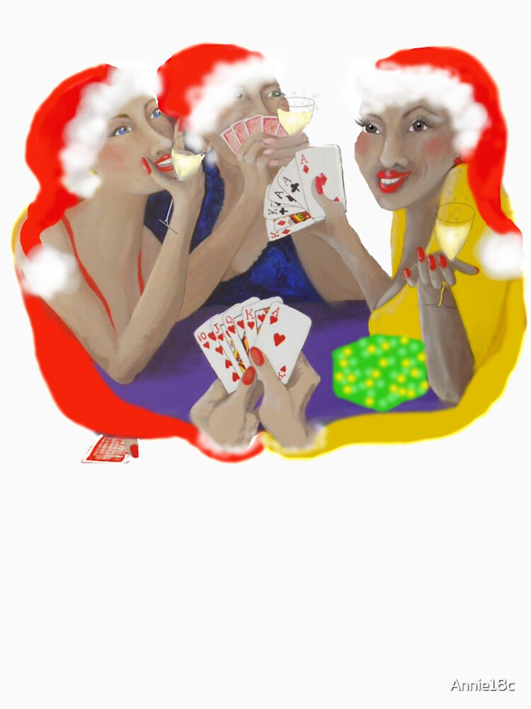 Christmas Lady Card Players by Annie18c