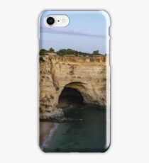 Blue Hour with a Hint of Pink at Vale Covo Sea Cave in Algarve Portugal iPhone Case/Skin