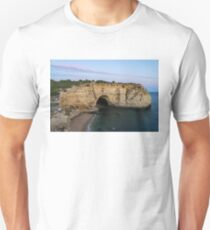 Blue Hour with a Hint of Pink at Vale Covo Sea Cave in Algarve Portugal T-Shirt