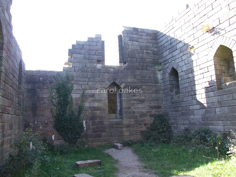 inside the old rivington castle by carol oakes