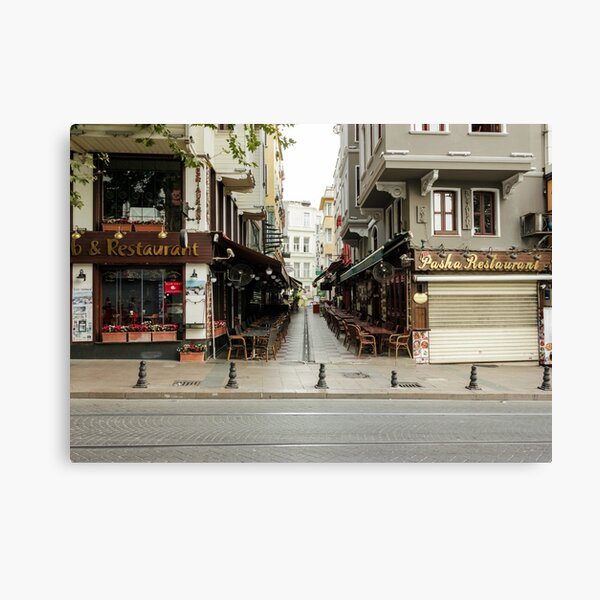Turkish restaurants on Divan Yolu street Canvas Print