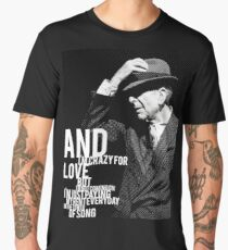 Leonard Cohen Tower Engraving Tribute Men's Premium T-Shirt