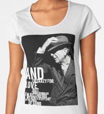 Leonard Cohen Turm Gravur Tribut Frauen Premium T-Shirts