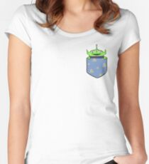 Toy Story Alien Pocket Women's Fitted Scoop T-Shirt