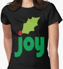Joy with Holly Leaf and Berry T-Shirt