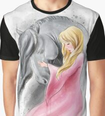 Girl and grey horse  Graphic T-Shirt