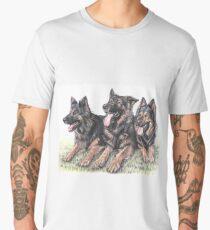 Longhaired German Shepherds Men's Premium T-Shirt