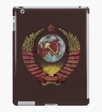 USSR Vintage Coat of Arms V01 iPad Case/Skin