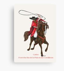 Carlos and Gaucho by tasmanianartist for Karl May Friends Canvas Print