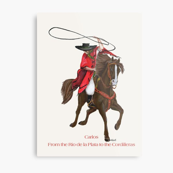Carlos and Gaucho by tasmanianartist for Karl May Friends Metal Print