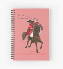 Carlos and Gaucho by tasmanianartist for Karl May Friends Spiral Notebook