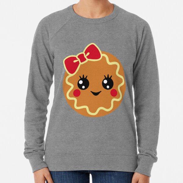 Gingerbread Girl ,Christmas Sweet Gingerbread,Gingerbread Silhouette Lightweight Sweatshirt