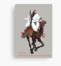 Winnetou in Arabia by tasmanianartist for Karl May Friends Canvas Print