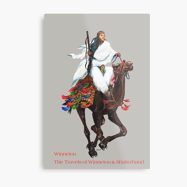 Winnetou in Arabia by tasmanianartist for Karl May Friends Metal Print