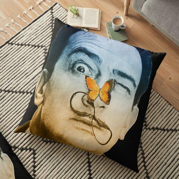 Salvador Dali butterfly man Floor Pillow