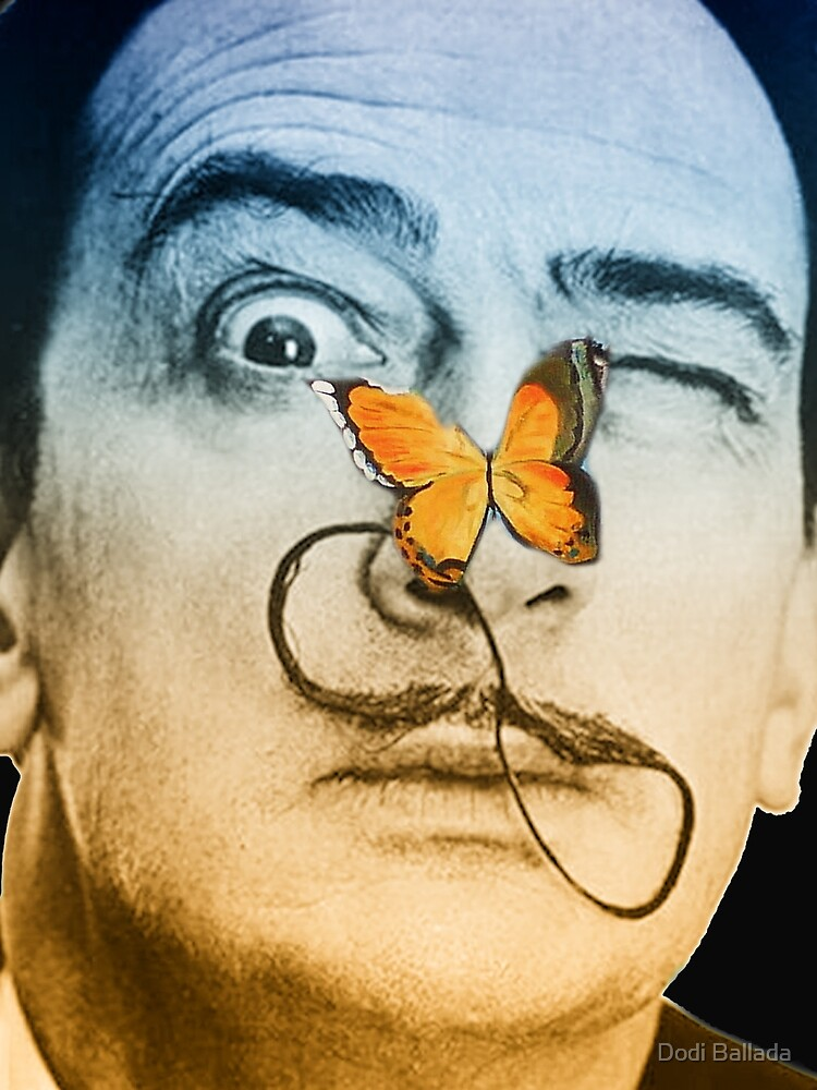 Salvador Dali butterfly man by timelessfancy