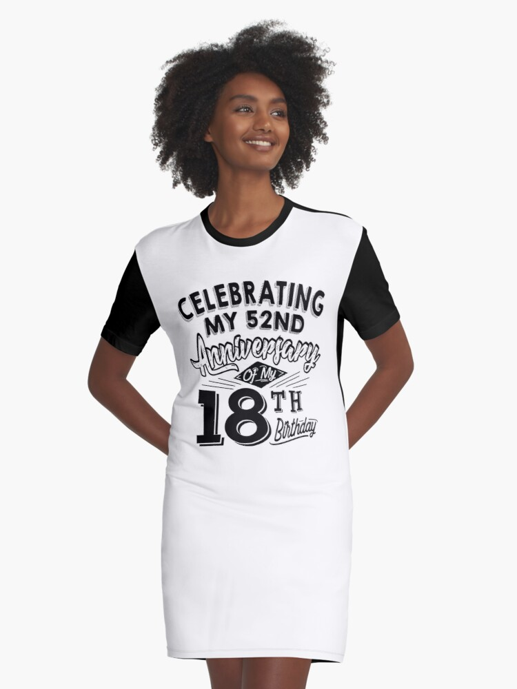 Funny 70th Birthday Celebration Gag Gift 70 Year Old Graphic T Shirt Dress By SpecialtyGifts