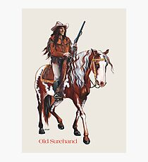 Old Surehand by tasmanianartist for Karl May Friends Photographic Print