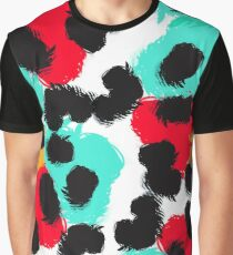 Leopard watercolor spots. Wildlife animal skin design. Graphic T-Shirt