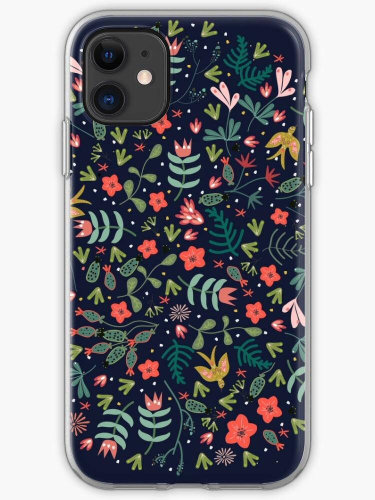 Folk birds iphone 11 case