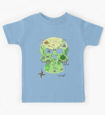 Skull Island Map Kids Clothes