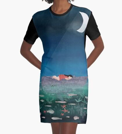 Dream With The Whale Graphic T-Shirt Dress