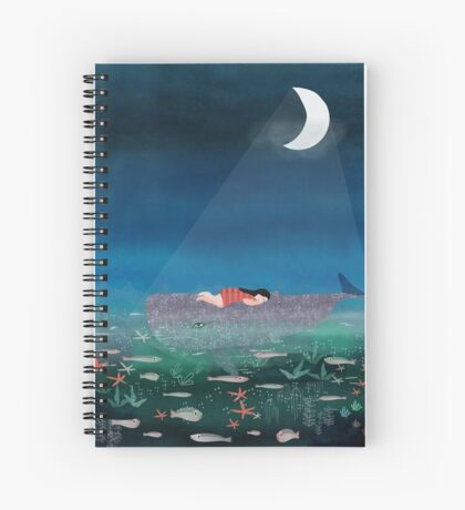 Dream With The Whale Spiral Notebook