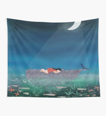 Dream With The Whale Wall Tapestry