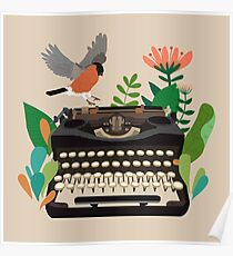 The bird and the typewriter Poster