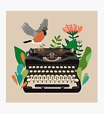 The bird and the typewriter Photographic Print