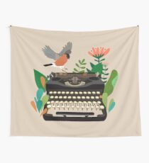 The bird and the typewriter Wall Tapestry