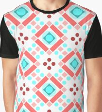 Simple retro pattern with shapes Graphic T-Shirt