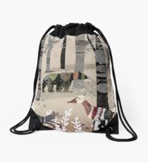 Forest In Sweater Drawstring Bag