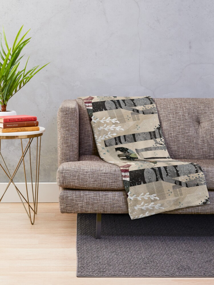 Alternate view of Forest In Sweater Throw Blanket