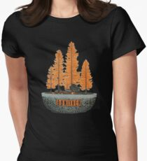 bon iver -  indie folk Women's Fitted T-Shirt